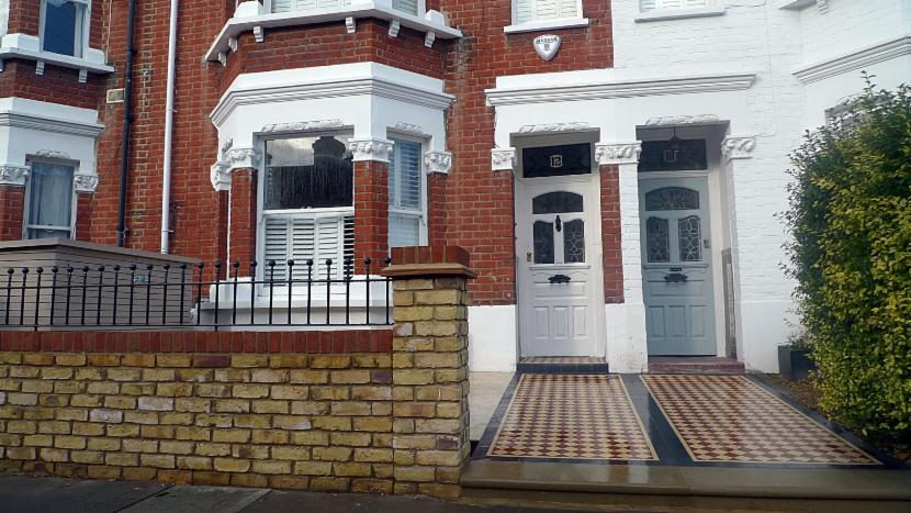 Dulwich mosaic tile paths landscape gardener dulwich for Victorian garden walls designs